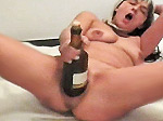 Wine bottle masturbation