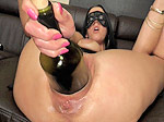 Huge wine bottle insertion